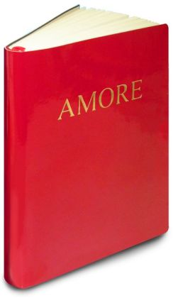 Red Bonded Patent Gold Amore Lined Bound Journal 6x8