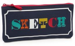 Jonathan Adler Multi Alphabet Pencil Pouch (8.75x4)