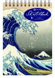 Book Cover Image. Title: Hokusai Wave - Medium - Top Spiral, Author: Piccadilly