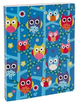 Hooty Owls 3-Ring Binder with Dividers 9'' x 12''