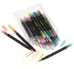 Brush and Fine Point Combo Bright Markers Set of 24 - 5.75