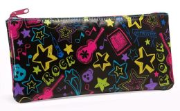 Neon Rock Coated Cotton Pencil Pouch 4