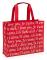 "I Love You Script Red & White Tote Bag (15"" x 12"" x 4.75"")"