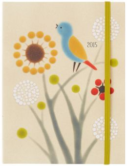 2015 Weekly Planner 6x8 Xenia Taler Meadow Bird Flexi Engagement Calendar