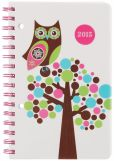 Book Cover Image. Title: 2015 Weekly 5x8 Owl Bubble Tree Wiro Engagement Calendar, Author: Punctuate