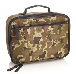 Camouflage Square Zippered Lunch Tote (10 x 8 x 3.5)