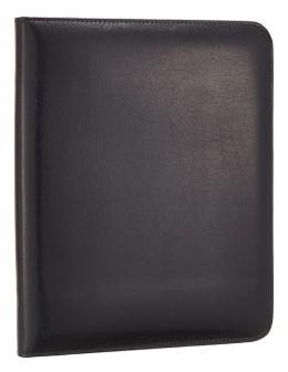 Bonded Black Leather iPad Folio with Memo Pad