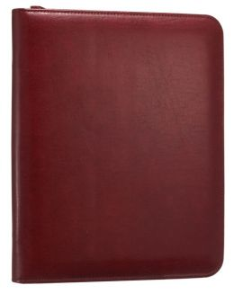 Red Bonded Leather I Pad Folio Case with Writing Pad