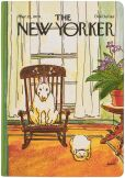 Product Image. Title: New Yorker Dog in Chair Cover HD
