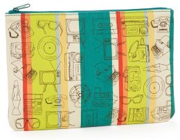 Vintage Objects Multi Canvas Printed Accessory Pouch 7