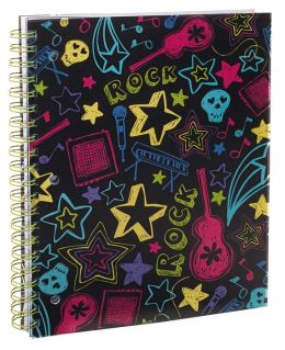 Neon Rock 3-Subject Lined Notebook 8.5