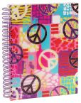 "Product Image. Title: Graffiti Peace 5-Subject Lined Wiro Notebook 8.5"" x 11"""
