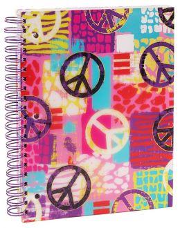 Graffiti Peace 5-Subject Lined Wiro Notebook 8.5