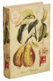 Product Image. Title: Pear & Fruits Fabric Book Box 10.2'' x 6.7'' x 2''