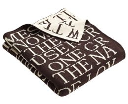 Quotes Chocolate Melange & Ecru Cotton Throw 50