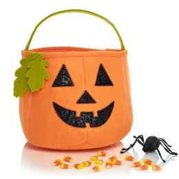 Pumpkin Felt Halloween Treat Bag 8