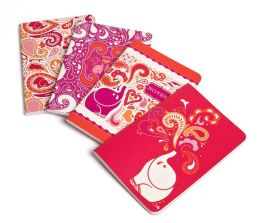 Jonathan Adler Pink Elephant Miniature Journals-Set of 4 (4x6)