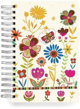 100% Recycled Butterfly Garden Lined Spiral Journal 6x9