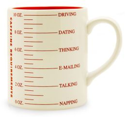 Milton Glaser Caffeine Requirements Mug 10 oz.