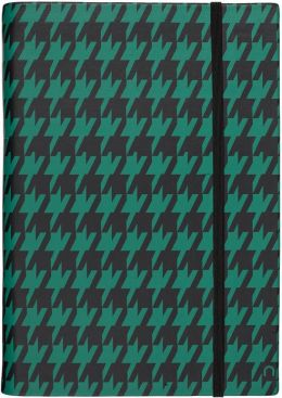 Madeleine Houndstooth Cover in Black/Forrest HD