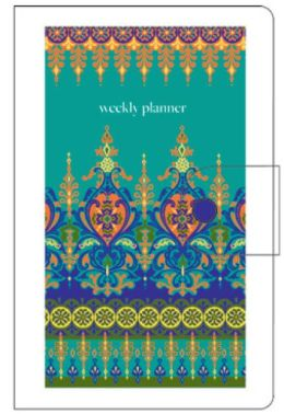 2014 18-Month Vinyl Moroccan Borders Engagement Calendar