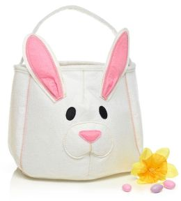 Easter Bunny White & Pink Felt Tote (11.5