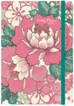 2014 Weekly Planner 5x7 Chinese Peony Bound Engagement Calendar