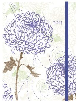 2014 Weekly Planner 6x8 Chrysanthemum Flexi Engagement Calendar