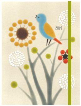 2014 Weekly Planner 6x8 Xenia Taler Meadow Bird Flexi Engagement Calendar