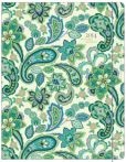 Book Cover Image. Title: 2014 Monthly Planner 7.5x9.75 Blue Green Paisley Sewn Engagement Calendar, Author: Punctuate