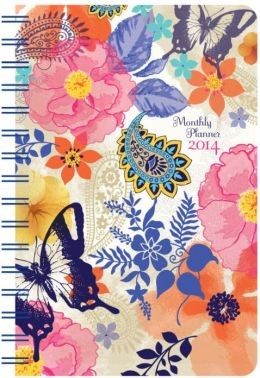2014 Weekly 5x8 Watercolor Butterfly Wiro Engagement Calendar