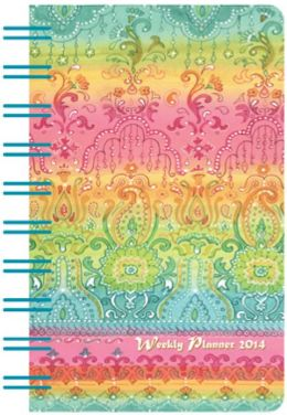 2014 Weeky 3x5 Asian Borders Wiro Engagement Calendar
