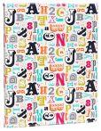 "Product Image. Title: Jonathan Adler Multi Alphabet Presentation Book 8"" x 11"""
