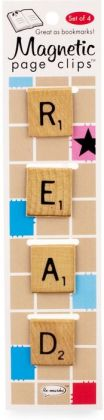 Read Word Tile Magnetic Page Clips Set of 4