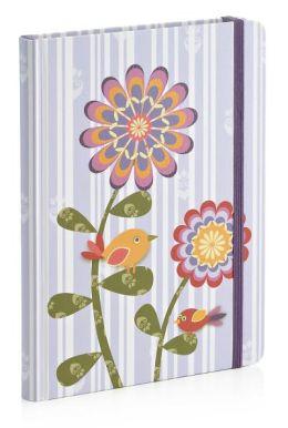 Purple Stripe Bird Journal 6 x 8 (ref 811-1754)