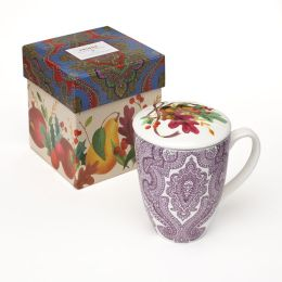 Bountiful Lidded Tea Mug with Mesh Strainer