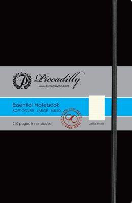 Essential Notebook - Ruled- Black- Soft-Large