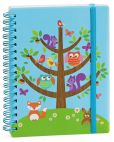 Product Image. Title: Critters in Tree Small Wiro Journal 4'' x 6''