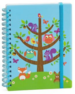 Critters in Tree Small Wiro Journal 4'' x 6''