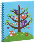 Product Image. Title: Critter in Tree Spiral Bound Sketchbook 9'' x 11''