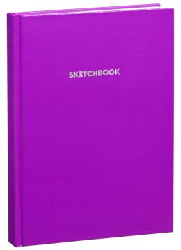 Purple Basic Bound Sketchbook (8.25''x11.25'')