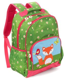 Critter Fox in Daisy Field Large Backpack 17'' x 12'' x 7''