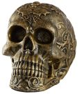 Product Image. Title: Bronzed Skull Flameless Candle 5.5''
