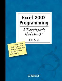 Excel 2003 Programming
