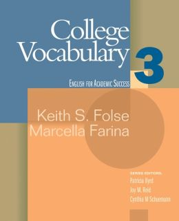 College Vocabulary: Houghton Mifflin English for Academic Success