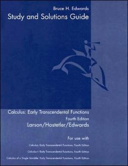 Student Study Guide, Volume 1 for Larson/Hostetler/Edwards' Calculus: Early Transcendental Functions, 4th
