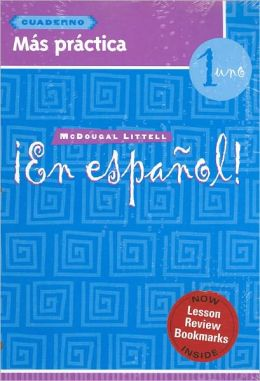 ?En espa?ol!: Mas practica cuaderno (Workbook) with Lesson Review Bookmarks Level 1
