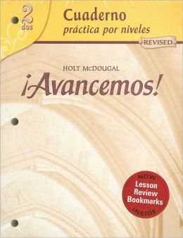 McDougal Littell ¡Avancemos!: Cuaderno: Practica por niveles (Student Workbook) with Review Bookmarks Level 2