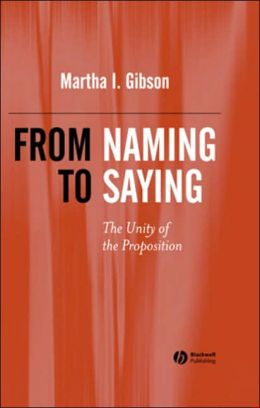 From Naming to Saying: The Unity of the Preposition