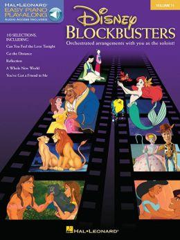 Disney Blockbusters - Easy Piano Play-Along Series, Volume 11